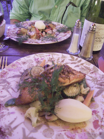 dining at Le Petitie Chateau