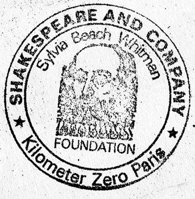 Shakespeare and Company book stamp